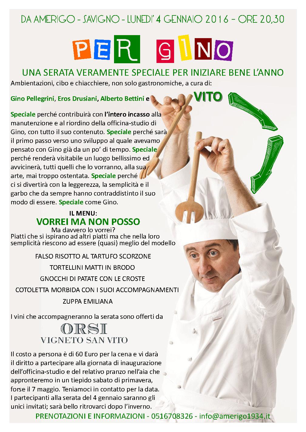 Gino Pellegrini, Amerigo, Savigno, Premiate Trattorie Italiane